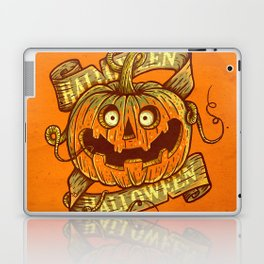 Halloween orange Laptop & iPad Skin