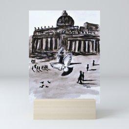 Holy Pigeons Two Mini Art Print