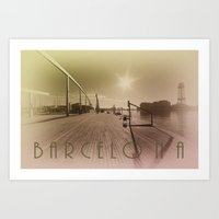 barcelona Art Prints featuring Barcelona  by Rob Hawkins Photography