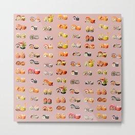 Sushi Set Metal Print
