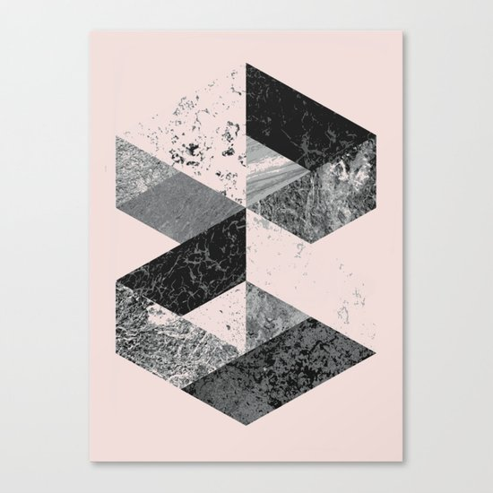 Geometric modern abstract wall art print Canvas Print
