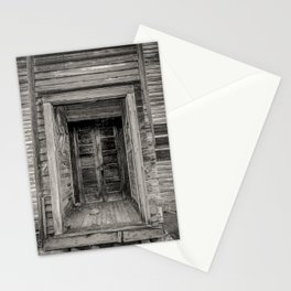 Doors of the Old Cottonwood Church, Montana Stationery Cards