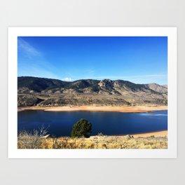 Horsetooth Reservoir Fort Collins Colorado Color Photo Art Print