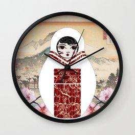 Geisha Matryoshka Wall Clock