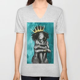 Naturally Queen IX TEAL Unisex V-Neck