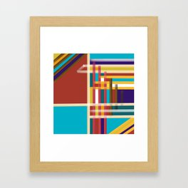 3rd DOOR ON THE LEFT  Abstract Art Framed Art Print