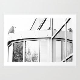 Heron, Grattan Business Park, Dublin, Ireland Art Print