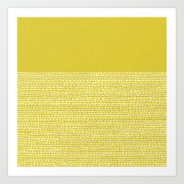 Riverside(Yellow) Art Print