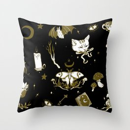 Midnight Moon Witch Throw Pillow