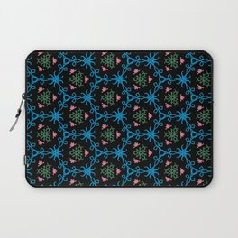 Frosted Floral Coral Laptop Sleeve