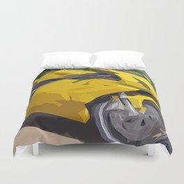 Yellow bike for funny adventures Duvet Cover