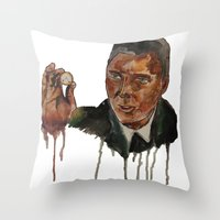 christopher walken Throw Pillows featuring Christopher Walken as Captain Koons by rusto