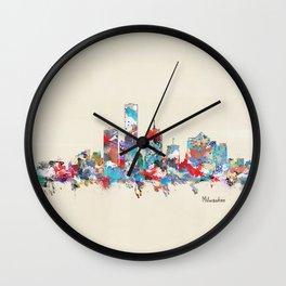 Milwaukee Wisconsin skyline Wall Clock