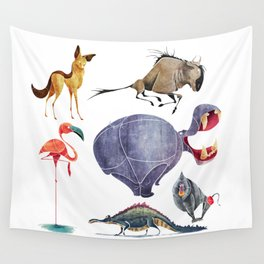 African animals 3 Wall Tapestry