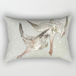 Snow Geese Rectangular Pillow
