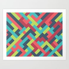 Intertwined 001 Art Print