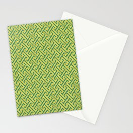 Green Ko-Ji Tsunagi Japanese Kimono Pattern Stationery Cards