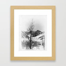 snow scene Framed Art Print