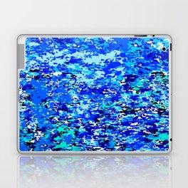Blue Flames Background Laptop & iPad Skin