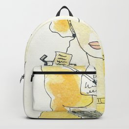 Signora in giallo Backpack