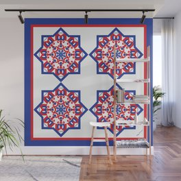 American Star Tiled Wall Mural