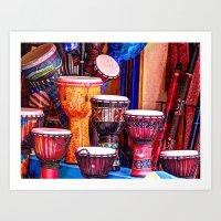 drums Art Prints featuring Drums by UKTiger