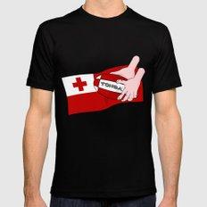 Tonga Rugby Flag Black MEDIUM Mens Fitted Tee