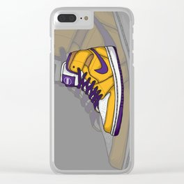 J1-Lakers Clear iPhone Case