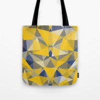 yellow pattern Tote Bags featuring Yellow by jbjart