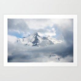 Eiger Mountain in Clouds Art Print