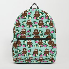 Sloth and Hibiscus Backpack