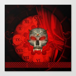 Awesome skull with celtic knot Canvas Print
