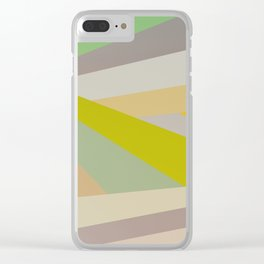 Retro Geometry V Clear iPhone Case