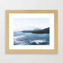 Kauai From Above Framed Art Print