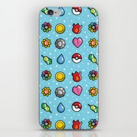 gym iPhone & iPod Skins featuring Gym Badges by Moysche Designs