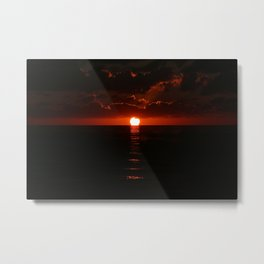 Red Bahama Sunset Metal Print