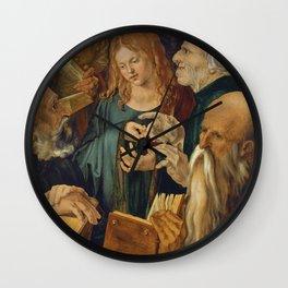 Christ among the Doctors by Albrecht Durer Wall Clock