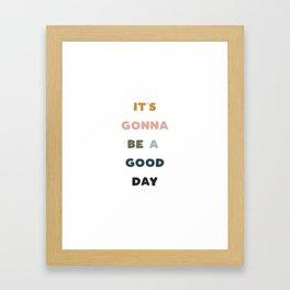 Good Day - Retro Rainbow Framed Art Print