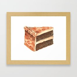 Chocolate Cake Slice Framed Art Print