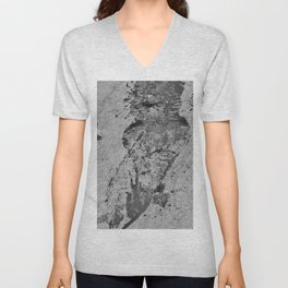 Wet Outline Of Gator Unisex V-Neck