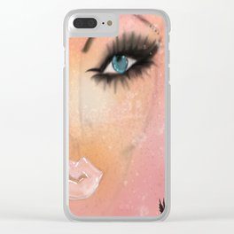 Just BE Healing Art Illustration Clear iPhone Case