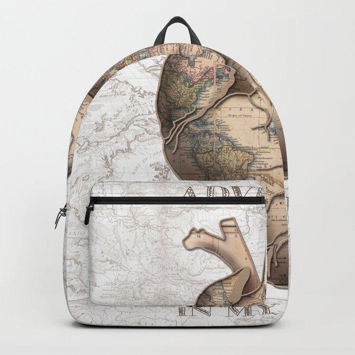 adventure heart-world map 1 Backpack