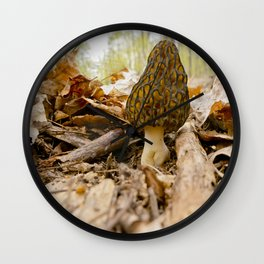 Black Morel Wall Clock