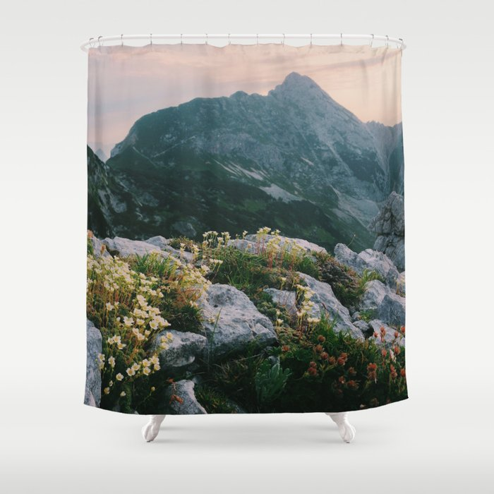 Mountain Flowers At Sunrise Shower Curtain By Borc