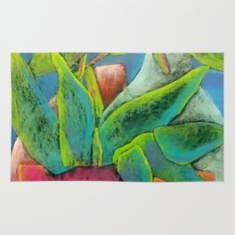 Misty Potted Plant Rug