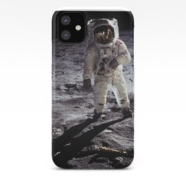 Apollo 11 - Iconic Buzz Aldrin On The Moon iPhone Case