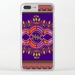 Purple Version Clear iPhone Case