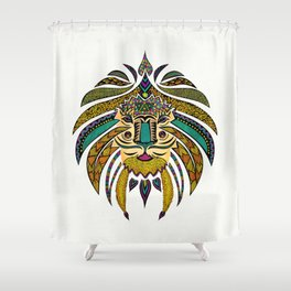 Emperor Tribal Lion Shower Curtain