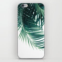 Palm Leaves Green Vibes #4 #tropical #decor #art #society6 iPhone Skin