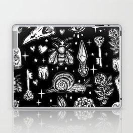 Full Of Secrets Witchy Goth Punk Pattern Laptop & iPad Skin
